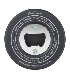 Hockey puck bottle opener ''Final touch''