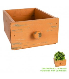 Wooden drawer pot with knob handle