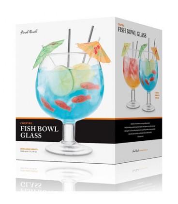 Verre à cocktail bocal à poisson ''Final Touch''