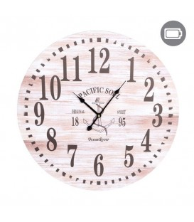 Nautical wooden wall clock