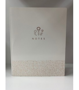 Porte-document blanc et or rose EMMA VERDE