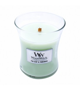 Small cracking candle WOODWICK FIG LEAF
