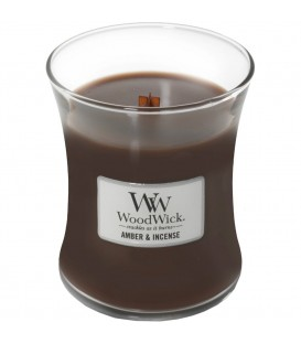 Medium cracking candle WOODWICK AMBER