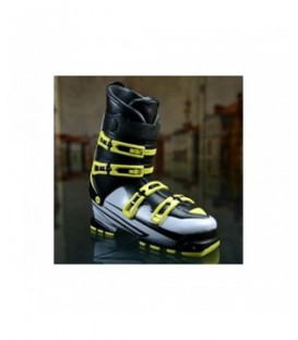 Bank shaped ski boot