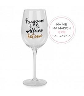 Wine glass- Meilleure Hôtesse Saskia