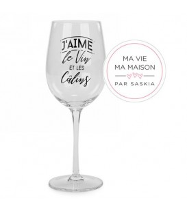 Wine glass-Vin et Calins Saskia