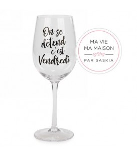 Verre à vin-C'est Vendredi Saskia