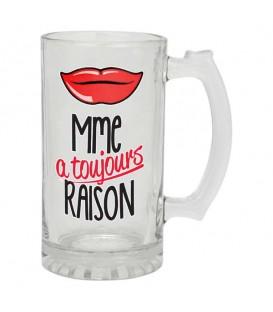 Verre à bière-MME À TOUJOURS RAISON