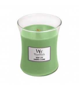 MEDIUM CRACKING CANDLE WOODWICK HEMP AND IVY