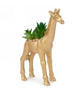 Gold giraffe artificial plant