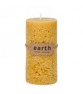 Mustard yellow candle