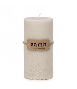 Big beige candle