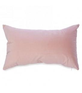 Coussin rectangle en velours rose