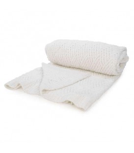 White knit throw
