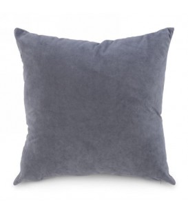 Steel grey suedette cushion