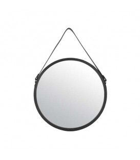 Small suedette strap hanging mirror