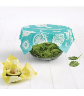 Set of 2 Large Turquoise Reusable Food Wraps Eco collection RICARDO