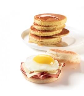 Ensemble de 2 anneaux pour œufs et pancakes réversibles en silicone