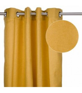 Mustard yellow linen curtain