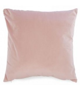 Pink suedette cushion