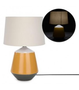 Table lamp with grey & yellow base