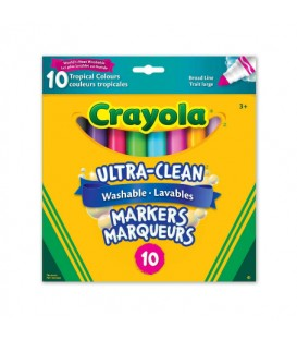 Ultra-Clean Washable Broad Line Markers Tropical Colours