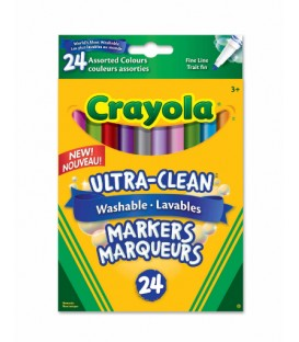 Ultra-Clean Washable Fine Line Markers Assorted Colours