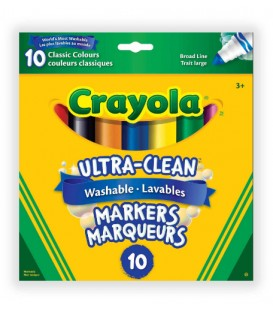 Ultra-Clean Washable Broad Line Markers, Classic Colours