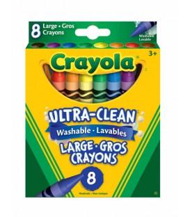 Grands crayons de cire lavables Ultra-Propres