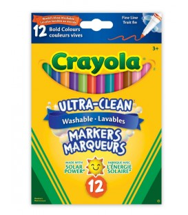 Ultra-Clean Washable Fine Line Markers, Bold Colours
