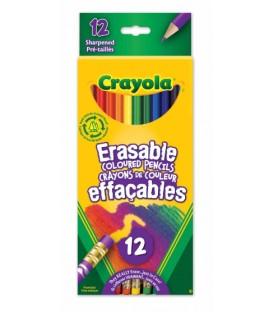12 Crayons De Couleur Effaçables