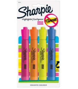 Surligneur sharpie 4 couleurs