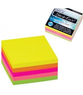 Notes autocollantes néon 5 couleurs