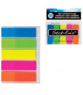 Bandes autocollantes néon 5 couleurs