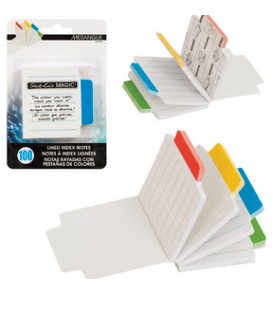 Self-adhesive notes lined with indexes