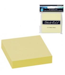 Notes autocollantes jaunes