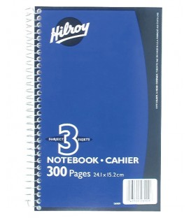 Hilroy spiral notebook 3 subjects