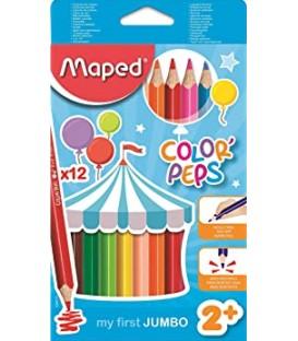 12 crayons de couleurs jumbo MAPED