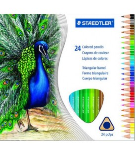 Pack of 24 STAEDTLER colour pencils