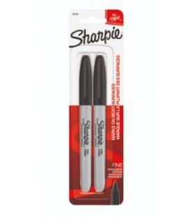 Paquet de 2 crayons Sharpie noir pointe fine