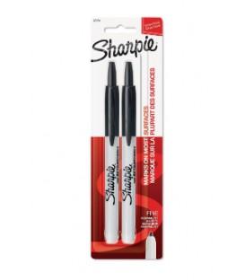 Paquet de 2 crayons Sharpie noir à pointe rétractable