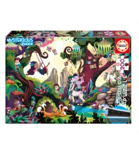 200 pieces Mysterious puzzle - Magic Forest French version