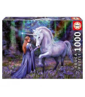 1000 pieces puzzle - Bluebell Woods, Anne Stokes