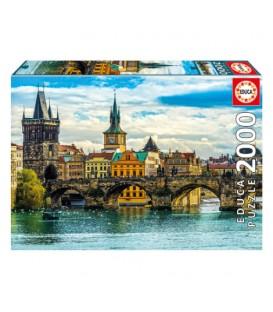 Puzzle 2000 pièces - Vue de Prague