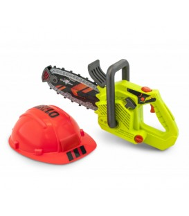 Clean Cut Chainsaw with Hard Hat