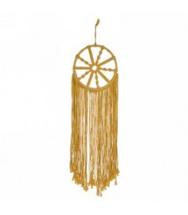Yellow mustard macrame