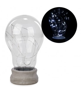 Led deco clear bulb on base