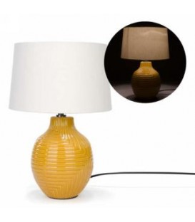 Table lamp with yellow base