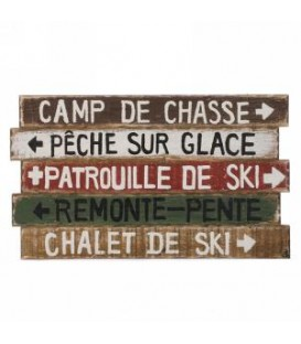 Camp de chasse wall plaque