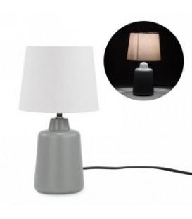 Table lamp - grey ceramic base